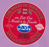 étiquette Fromage °_ Camembert De Normandie Au Lait Cru . Moulé . Briouze . 11 Cm ° NEUVE - Quesos