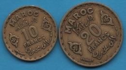 MAROC LOT 10 + 20 FRANCS 1371 - Maroc