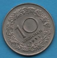 OESTERREICH 10 GROSCHEN 1925  KM# 2838 - Austria