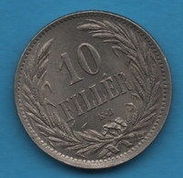 HUNGARY 10 FILLER 1894  KM# 842 Franz Joseph I - Hongarije