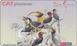 Thailand Phonecard Thaicard CAT Kat. 5604 Diff. Birds Papagei Toucan - Gallináceos & Faisanes