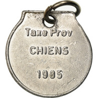 Luxembourg, Médaille, Taxe Prov Chiens, 1985, TTB+, Aluminium - Fichas Y Medallas