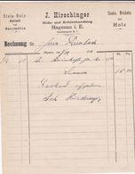 HAGENAU J HIRSCHINGER ANTRASITE DE BOIS DE PIERRE ET CHARBONS DE NOIX BRIQUETS COAKS ET BOIS MANUTENTION ANNEE 1900 - France