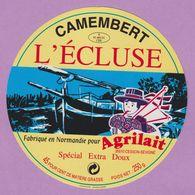 étiquette Fromage °_ Camembert L'Ecluse Extra Doux . Agrilait . 11 Cm ° NEUVE - Cheese
