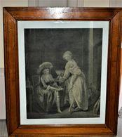 Rare Gravure LA COMPARAISON DES PETITS PIEDS  D'après Louis Léopold BOILLY De Chaponnier Alexandre - Prints & Engravings