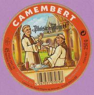 étiquette Fromage °_ Camembert Plaisir Des Moines-Briouze-11cm ° NEUVE - Cheese