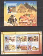 H133 2008 GUINE-BISSAU ARCHITECTURE MONUMENTS EGYPTIAN CIVILIZATION 1KB+1BL MNH - Archéologie