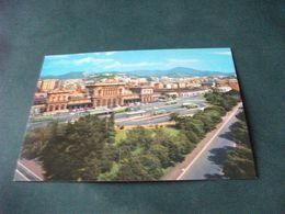 GENOVA  STAZIONE BRIGNOLE FERROVIARIA PIAZZA G. VERDI AUTOBUS VISTA DALL'ALTO ANNULLO MOSTRA FERROVIARIA 1980 - Genova