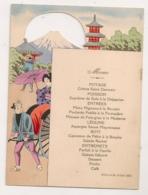 1921 MENU DU GRAND HOTEL DE PEKIN CHINE / MENU AJOURE ILLUSTRE VOLCAN POUSSE POUSSE  C392 - Menükarten