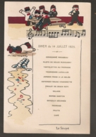 192 MENU DU 14 JUILLET 1925 ILLUSTRE PAR ANDRE HELLES / MILITARIA   C394 - Menükarten