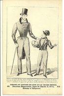 HISTOIRE Du COSTUME  191  Deuxieme Restauration, Regne De Charles X  (1827) - Homme Et Garconnet - Mode
