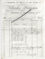 52 - Haute-marne - AUDELONCOURT - Facture HACQUIN - Bottier, Chaussures - 1916 - REF 293 - France