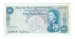 Isle Of Man - Elizabeth II - 50 New Pence - Eiland Man/ Anglo-Normandische Eilanden