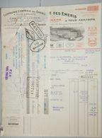 ANCIENNE FACTURE PARIS BOULEVARD SERURIER 1932 FREMY NAVARRE USINE ÉMERIS ABRASIFS - France