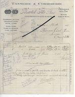 52 - Haute-marne - BOURBONNE-LES-BAINS - Facture MARTEL - Tannerie, Corroierie - 1928 - REF 293 - France