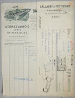 ANCIENNE FACTURE PARIS RUE BEAUTREILLIS 1930 BALLAUFF PETITPONT STORE EN BOIS - France
