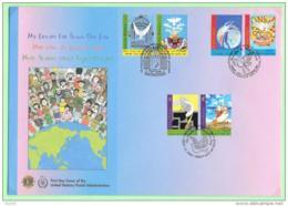 2006 - 46 - 562 / 563 - Journée Inteernationale De La Paix + New York + Vienne - FDC
