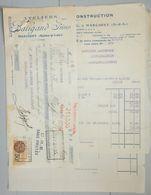 ANCIENNE FACTURE MARCIGNY SAÔNE ET LOIRE 1931 BALIGAND FRÈRES ATELIER DE CONSTRUCTION - France