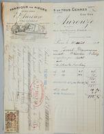 ANCIENNE FACTURE PARIS RUE DES HALLES 1931 E AUROUZE FABRIQUE DE PIÈGES POUR RAT SOURIS - France