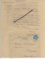 52 - Haute-marne - CHALINDREY - Facture CHEMIN DE FER DE L'EST - Exploitation - 1924 - REF 293 - France