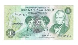 United Kingdom / Great Britain - Elizabeth II - 1 Pound - Bank Of Scotland - UNC - Schotland