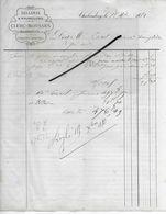 52 - Haute-marne - CHALINDREY - Facture CLERC-MOUSSUS - Sellerie, Bourrellerie - 1880 - REF 293 - France