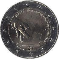 2E226 - MALTE - 2 Euros Commémorative -  Première élection 2011 - Malta