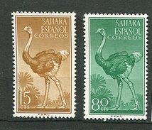 Sahara Espagnol ** N° 121 - 124 - Autruche - - Sahara Spagnolo