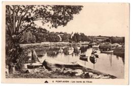CPA 29 - PONT-AVEN (Finistère) - 6. Les Bords De L'Aven (bateaux Au Mouillage) - Pont Aven