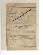 52 - Haute-marne - Gare CHARMOY-FAYL-BILLOT - Facture TITRE DE TRANSPORT - 1910 - REF 293 - France