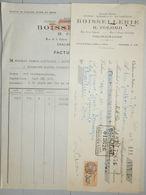 ANCIENNE FACTURE CHALON SUR SAONE SAONE ET LOIRE 1929 R COLOMB BOISSELLIERIE - France