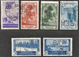 "Spaans Marocco.  6 Perfins ""B.E.M"" - Morocco (1956-...)"