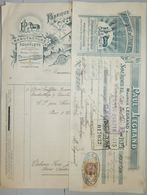 ANCIENNE FACTURE SOURDEVAL LA BARRE MANCHE 1929 MAURICE LEGRAND FABRIQUE DE COUVERTS - France