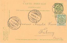 "België. Postkaart ""Le Pélican Rouge"", Perfin ""P.R."" - Unclassified"