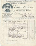 Rare Facture Maison Guéret Frères  Machines Appareils Et Syphons Pour La Fabrication Des Boissons Gazeuses 1911 - Other