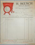 ANCIENNE FACTURE BOULAY MOSELLE 1932 H MOENCH HACHOIR LE PETIT LORRAIN - France