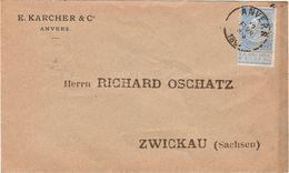 "België. Omslag E. Karcher & C°  Perfin ""EK"" - Unclassified"