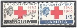 Gambia - Gambie 1963 Yvert 166-67, International Red Cross Centenary - MNH - Gambia (1965-...)