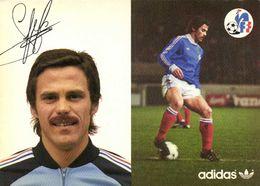Autographe Lopez Christian  Equipe De France  Football Adidas RV - Soccer