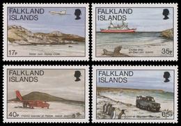 Falkland 1994 - Mi-Nr. 626-629 ** - MNH - Transport - Falkland