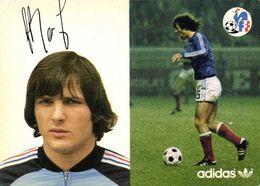 Autographe Batheney Dominique   Equipe De France  Football Adidas RV - Soccer