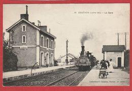 Loire Atlantique - Couëron - La Gare - Train à Vapeur - Stations With Trains