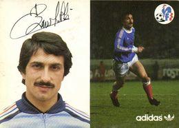 Autographe Baronchelli Bruno  Equipe De France  Football Adidas RV - Soccer