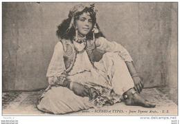 CE3 -      SCENES ET TYPES  -    JEUNE FEMME ARABE  - 2 SCANS - Africa