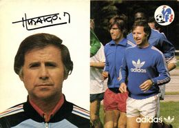 Autographe Hidalgo Mivhel Directeur Des Selections Nationales  Equipe De France  Football Adidas RV - Soccer