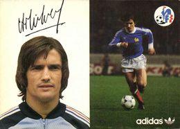 Autographe Michel Henri  Equipe De France  Football Adidas RV - Soccer