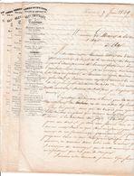 1849 TOULOUSE - Olin CHATELET, Fondeur, à La Ville D'AX (les Thermes 09) Etablissement De BORNES FONTAINES - Historische Dokumente