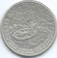 Cuba - 20 Centavos - 1952 - 50th Anniversary Of The Republic - KM24 - Cuba
