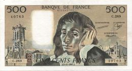 France- 500 Frs PASCAL - Du  5 11 1987   ( C.269 )  Cat Fayette N° 71   Excellent état - 1962-1997 ''Francs''