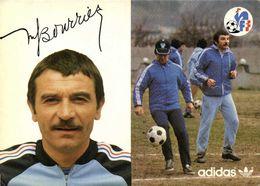 Autographe Bourrier Marc Entraineur Adjoint   Equipe De France  Football Adidas RV - Soccer